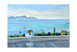 A Terrace Looking Out to Sea Giclee Print by Anne Durham