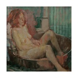 Nude in Old Tub, 2008 Giclee Print by Pat Maclaurin