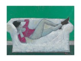Karen on the Settee Giclee Print by Endre Roder