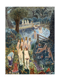 Bathers under Wing Hill, 1998 Giclee Print by Ian Bliss