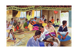 Kava Drinking Ceremony, Fiji, 1999 Giclee Print by Robert Tyndall