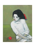 Lizzie in White Giclee Print by Endre Roder