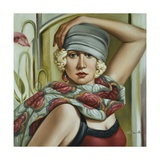 Grey Cloche Giclee Print by Catherine Abel