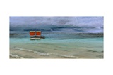 Lifeguard Station, Mauritius, 2008 Giclee Print by Trevor Neal