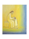 When We Repent of Our Sins Jesus Christ Looks on Us with Tenderness, 1995 Gicleetryck av Elizabeth Wang