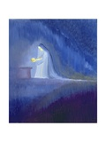 The Virgin Mary Cared for Her Child Jesus with Simplicity and Joy, 1997 Giclee Print by Elizabeth Wang