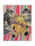 Kittens and Teddy Giclee Print by Anne Robinson