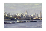 St. Paul's from Bankside Giclee Print by Julian Barrow