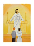 At their First Holy Communion Children Meet Jesus in the Holy Eucharist, 2006 Giclee Print by Elizabeth Wang