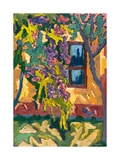 Sunlit Wall with Fruit Tree, 2005 Giclee Print by Marta Martonfi-Benke