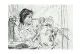 Ida and Child Giclee Print by Augustus Edwin John