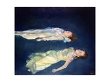 Two Girls Floating, 2004 Giclee Print by Lucinda Arundell