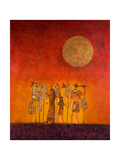 Hunting Scene at Sunrise, 2005 Giclee Print by Firyal Al-Adhamy