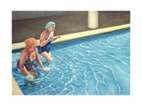 Two Ladies Getting into a Swimming Pool, 2000 Giclee Print by Peter Breeden