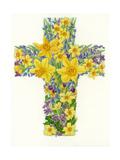 Floral Cross I, 1998 Giclee Print by Linda Benton
