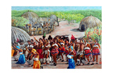 Zulu Celebration, 1989 Giclee Print by Komi Chen