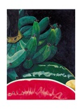 Watermelon and Green Bananas, 2002 Giclee Print by Pedro Diego Alvarado