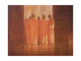 Group of Monks, Vietnam Giclee Print by Lincoln Seligman
