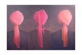 Turban Triptych Giclee Print by Lincoln Seligman