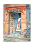 In the Old Town, Bhuj, 2003 Lámina giclée por Lucy Willis