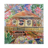 Lotus Cafe, Ubud, Bali, 2002 Giclee Print by Hilary Simon