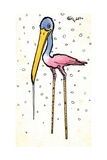 Stork with Calibrated Shanks, 1970s Giclee Print by George Adamson