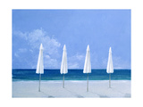 Beach Umbrellas, 2005 Giclee Print by Lincoln Seligman