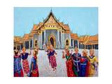 Traditional Thai Dance, 1990 Giclee Print by Komi Chen