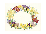 Spring Flower Oval, 1995 Giclee Print by Linda Benton