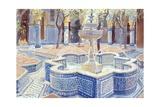 Lucy Willis - The Blue Fountain, 2000 Digitálně vytištěná reprodukce