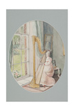 A Young Woman with a Harp, 2009 Giclee Print by Caroline Hervey-Bathurst