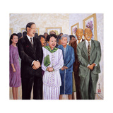 Exhibition (Former President and Madam Lee) 1995 Giclee Print by Komi Chen