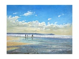 Paddling at the Edge Impression giclée par Timothy Easton