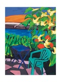 Turquoise Chair and Geranium, 2010 Giclee Print by Sarah Gillard