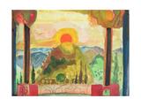 Sundown over Abruzzi, C.1980-89 Giclee Print by Michael Chase