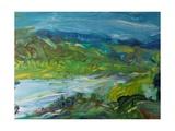 Blue River Landscape II, 1988 Giclee Print by Brenda Brin Booker