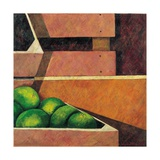 Crates with Green Oranges, 1999 Giclee Print by Pedro Diego Alvarado