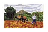Ploughing, 1995 Giclee Print by Pedro Diego Alvarado