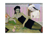 Antoinette and a Detail from Balthus, 1994 Giclee Print by Endre Roder