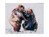 European Brown Bears, 2001 Giclee Print by Mark Adlington