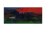 Landscape with a Red Sky Giclee Print by Brenda Brin Booker