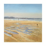 Beach Strollers Giclee Print by Timothy Easton