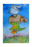 Super Mouse Giclée-tryk af Maylee Christie
