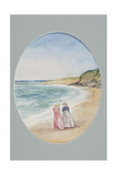 Anne and Henrietta Stroll Down to the Sea, 2006 Giclee Print by Caroline Hervey-Bathurst