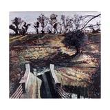 Bridge and Dog, 2000 Giclee Print by Peter Wilson