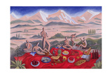 The Picnic, 1992 Giclee Print by Marie Hugo