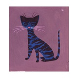 The Blue Cat, 1970s Giclee Print by George Adamson