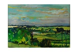 Across the Valley, Bedfordshire, 1973 Giclee Print by Brenda Brin Booker