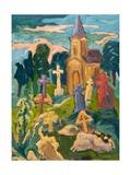 Graveyard and Chapel, 2005 Giclee Print by Marta Martonfi-Benke