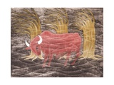 Bull in the Wind, 2001 Giclee Print by Juan Alcazar